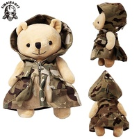 SINAIRSOFT Teddy Bear Tactic Bear Doll, Cartoon Plush Stuffed Toy Tactical Vest CS Outdoor Clothing Hunting Vest dress up