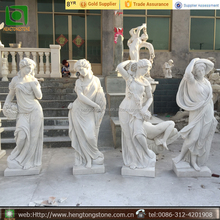 Stone Garden Products Type Hand Carved Life Size Marble Four Season Woman Snow White Statue
