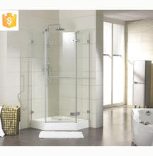 Shower cabins glass bathroom frameless diamond style steam shower room
