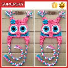 A-720 Custom Animal Earflap Hat Crochet Patterns Baby Halloween Crochet Baby Kid Animal Owl Hat Earflap Crochet Owl Hat Pattern
