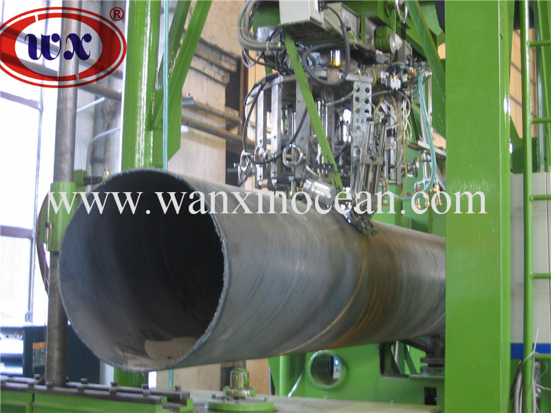 WANXIN brand carbon steel spiral submerged arc weleded pipe production line