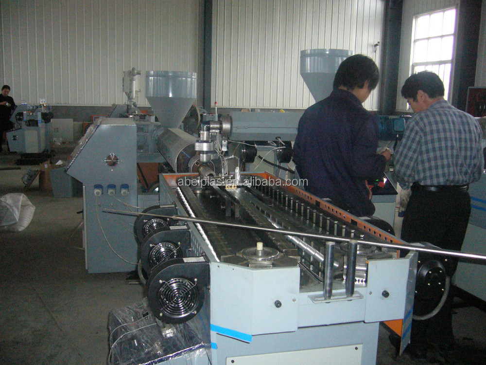 PVC single wall plastic pipe production machine line