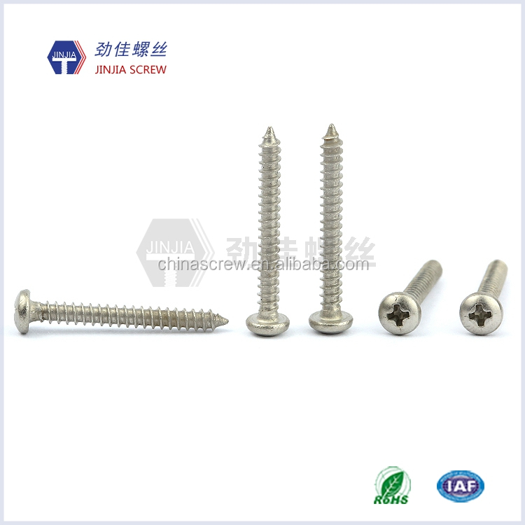 Pan head screw with cross drive stainless steel screw m3