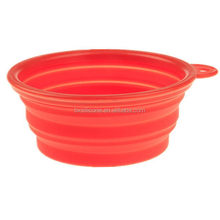 High quality stylish silicone pet travel bowls collapsible