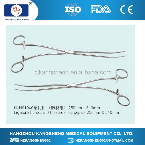 2014 Thoracoscopy instruments, Ligature Forceps, Fissures Forceps