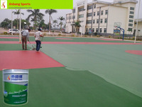 Stadium ECO Friendly Silicone PU Court Surface Paint for basketball/volleyball / tennis/ badminton court surface installation