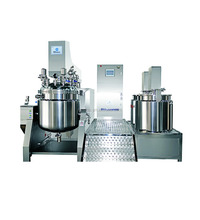 Cosmetic making hydraulic vacuum pump brand name facial cream, body lotion cream making mixer from Sina Ekato