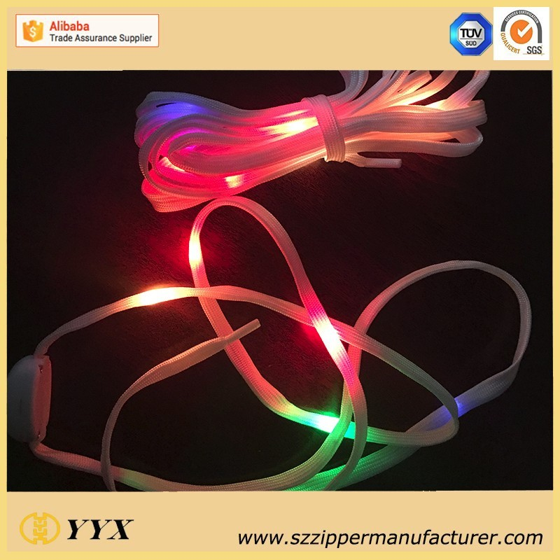 Crazy flashing electric light up led shoelace charms flashing luminous shoelaces for holiday
