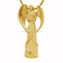 Meaningful Angel Prayers Stainless Steel Cremation Jewelry