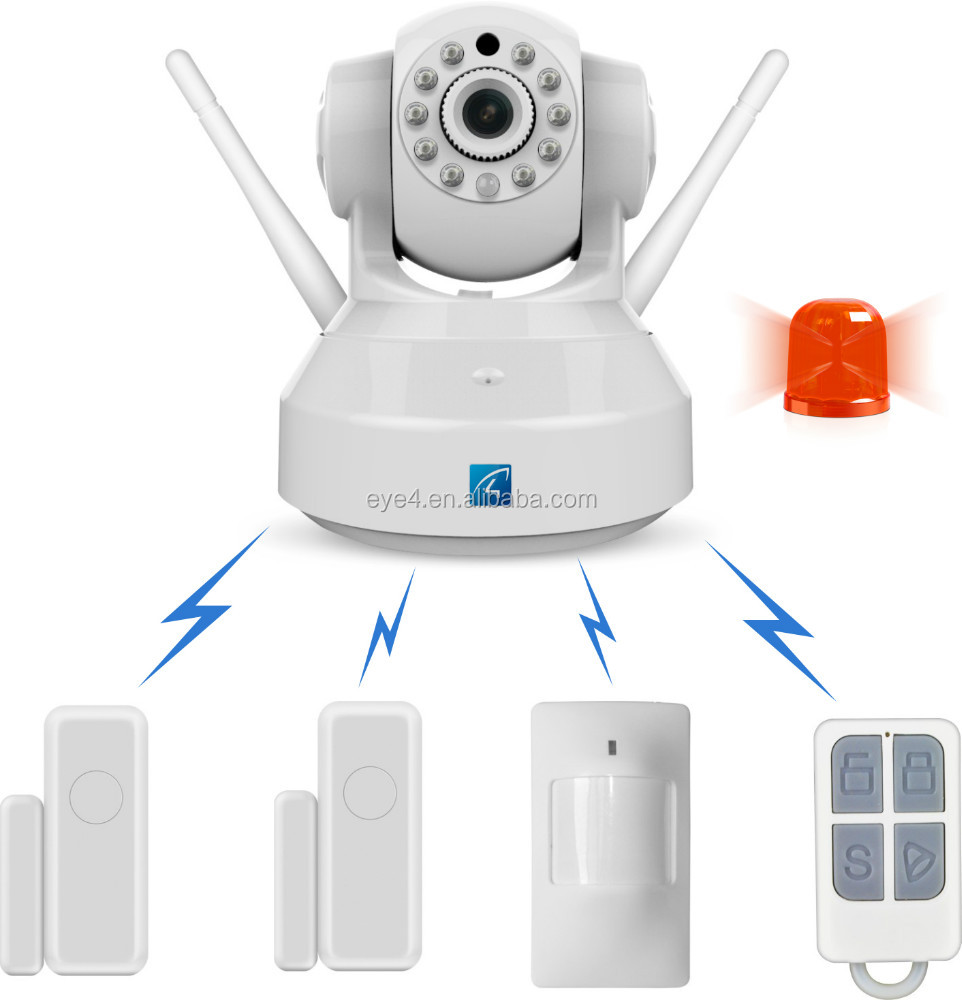 Hd 720p ip alarm system with ip cameras best buy alarm for Best buy security systems