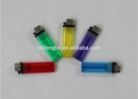 Ningbo Promotional Gifts hot sale cheap price transpartent color plastic disposable flint cigarette lighter