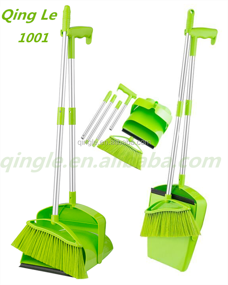 Household Cleaning Tools and Accessories folding broom and dustpan set, dustpan and brush set with long handle