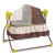 Baby Electric Infant Cradle automatic Swing Crib Folding Rocker Vibration Sleeping Bed With Canopy Mosquito Net Remote control