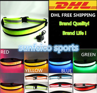 Elastic Led Flashing Belt with 3M Reflective Tape~Hot sale Adjustalbe LED Light Belt Waistband