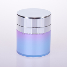 wholesale 50ml airless acrylic cylinder cosmetic cream containers plastic