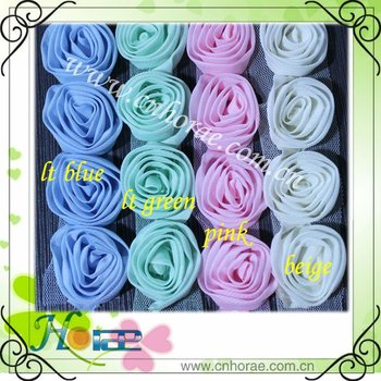 colorful chiffon rose flower lace for wedding dress