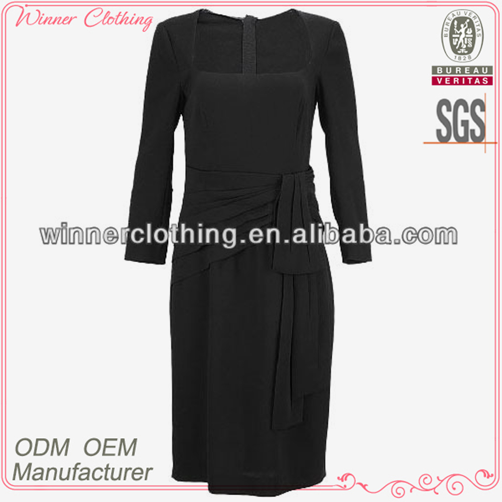 Top fashion elegant dress design sexy modest ladies' office wear