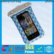 2015 fashionable waterproof smart phone bag case for iphone4/4s with IPX8 certificate