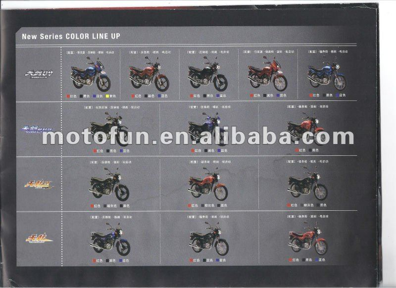 YAMAHA genuine YB125 series motorcycles