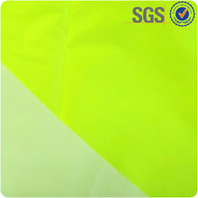 EN471 standard light weight breathable 100% polyester green fluorescent fabric for traffic police uniform