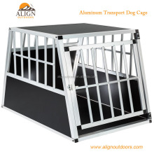 Double dog cage trapezoidal aluminium transport car travel carrier