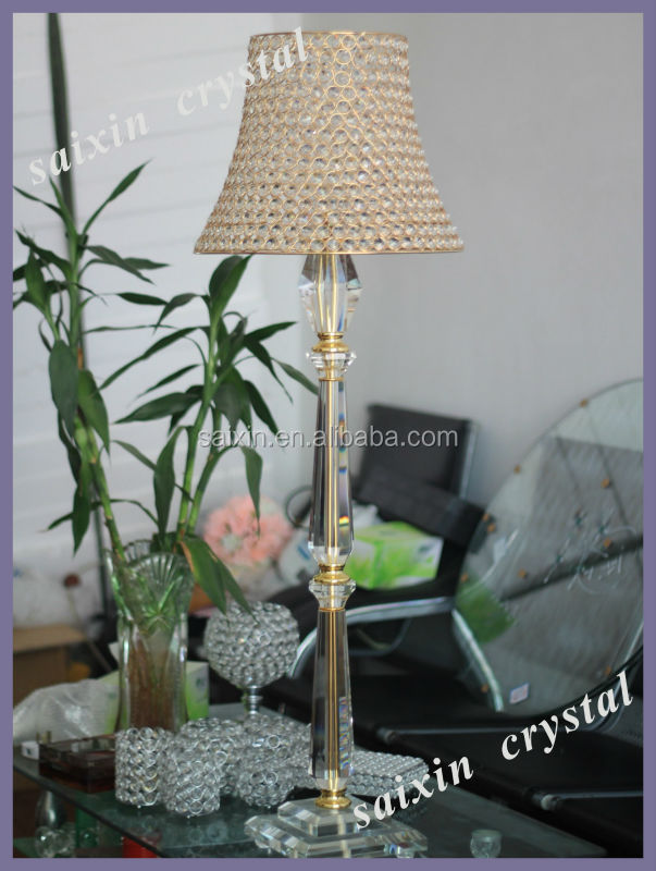New design crystal floor candle stand for home decor