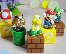 Super Mario Bros Brothers 5 pcs Pvc Toy