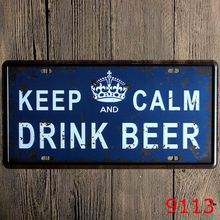 H&D Keep Calm Drink Beer Decoration Metal Tin Sign Vintage Board Poster Wall