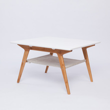Bamboo wood Coffee Table Tea table Double Layer Living Room Square Table Home <strong>Furniture</strong>