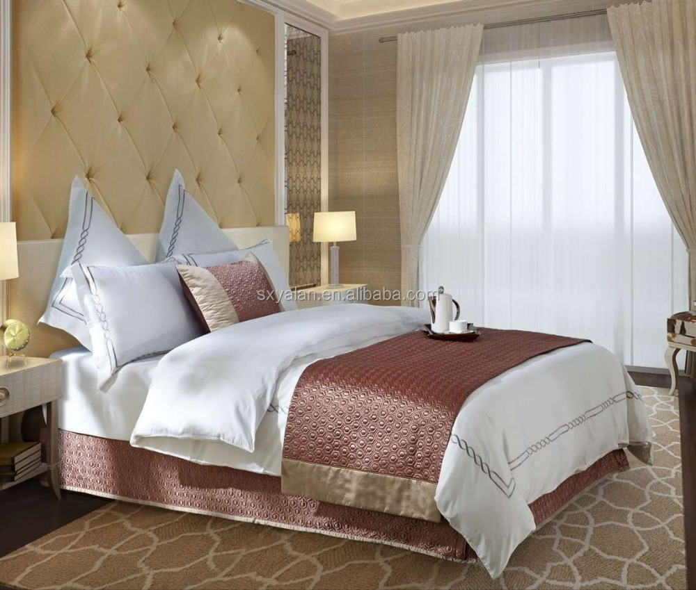 Luxury Hotel Bedspread , decorative bed Scarf
