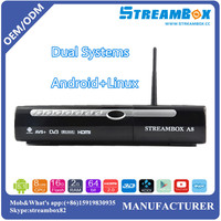 Hi3719 Dual CPU ARM9 IPTV Digital Dual Systems Linux and Android DVB-S2 Satellite Receiver