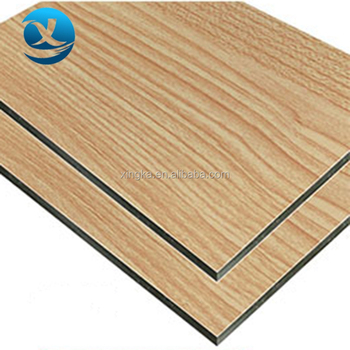 wooden acp inside decoration wall 3mm aluminum composite panel