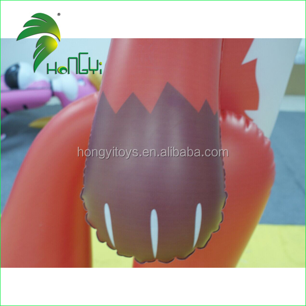 2016 High Quality Giant Inflatable Red Fox Cartoon For Advertising/Customized PVC Inflatable Fox Toy