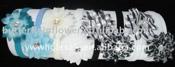 "skinny headband with 2"" daisy flower"