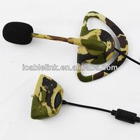 Professional Game Headset Headphone for Xbox 360,Camouflage Earhook earphone for Xbox 360