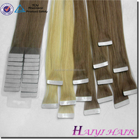 Hot Beauty New Best Selling 100% Human Hair Brand Name 22 Inch Remy 613 40 Pieces Tape Extension