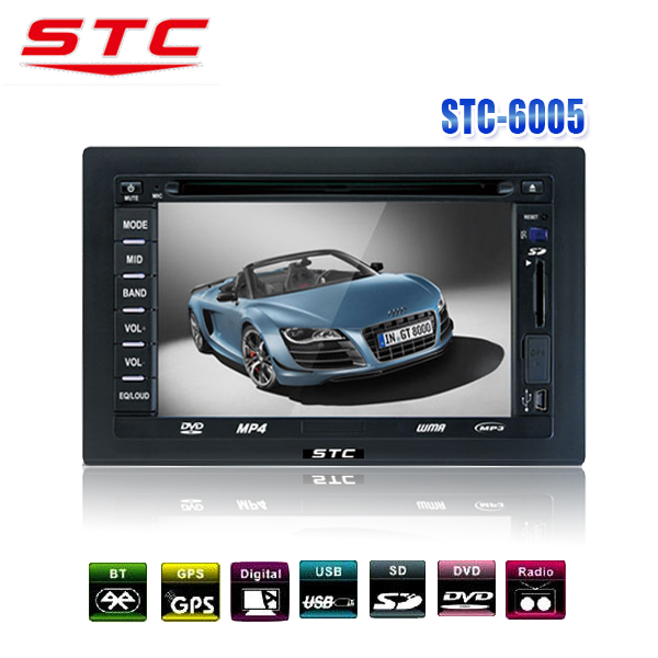 Lowest Price 2 Din Car DVD with GPS Nevigator, Bluetooth,TV. STC-6005