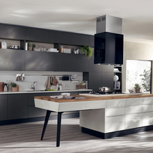 Hotel project customized cheap high gloss kitchen cabinet