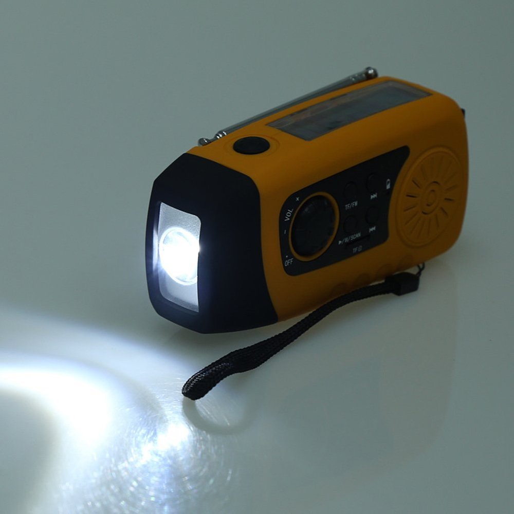 solar power portable fm radio oem mp3 player with led ligths