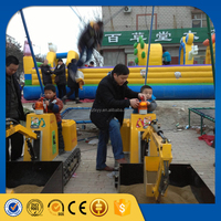 Commercial small outdoor playground equipment kids ride on excavator for sale