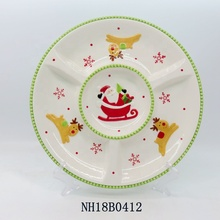 Decorative Ceramic/Earthenware Christmas snake <strong>plate</strong> round