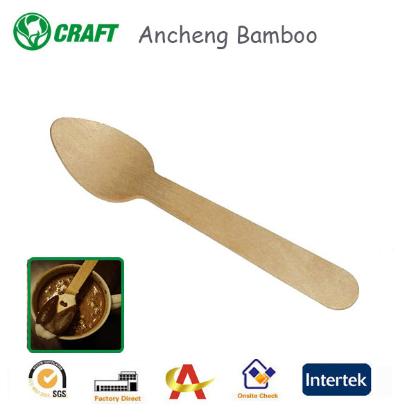 Natural Wood Color Coffee /Honey Spoons