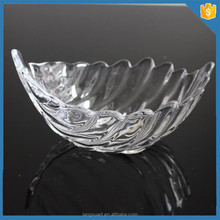 LXHY home containers leaf shape fruit bowl crystal decorative glass bowls