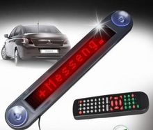 OEM available 7*40 dots electronic led scrolling message board for car or shop