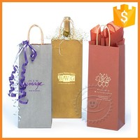 Professional custom wine packing paper bag of luxury paper