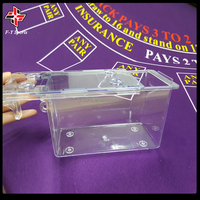 plastic playing cards carrier/baccarat cards holder/poker cards box
