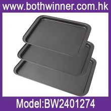 Roaster pan bbq baking tray fish pan ,h0tsy non-stick silicone coated baguette pans for sale
