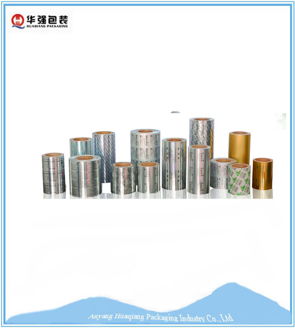 Roll type aluminum blister packaging foil of tablets and capsules