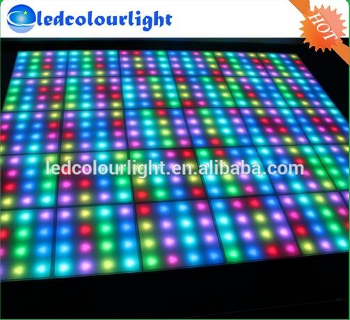 Night club make led dance floor tiles, Party dmx led dance floor entertainment lighting IP65