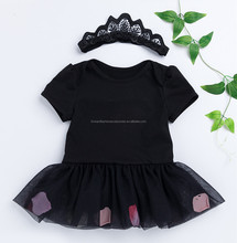 Latest Design Girls Summer Soft Tutu Dress Knitted Baby Rompers